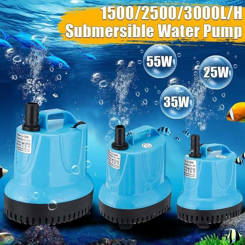 25/40/55W Nuova casa sommergibile pompa acqua sommergibile cascata silent fontana pompa per acquario fish serbatoio fontana da giardino 220v