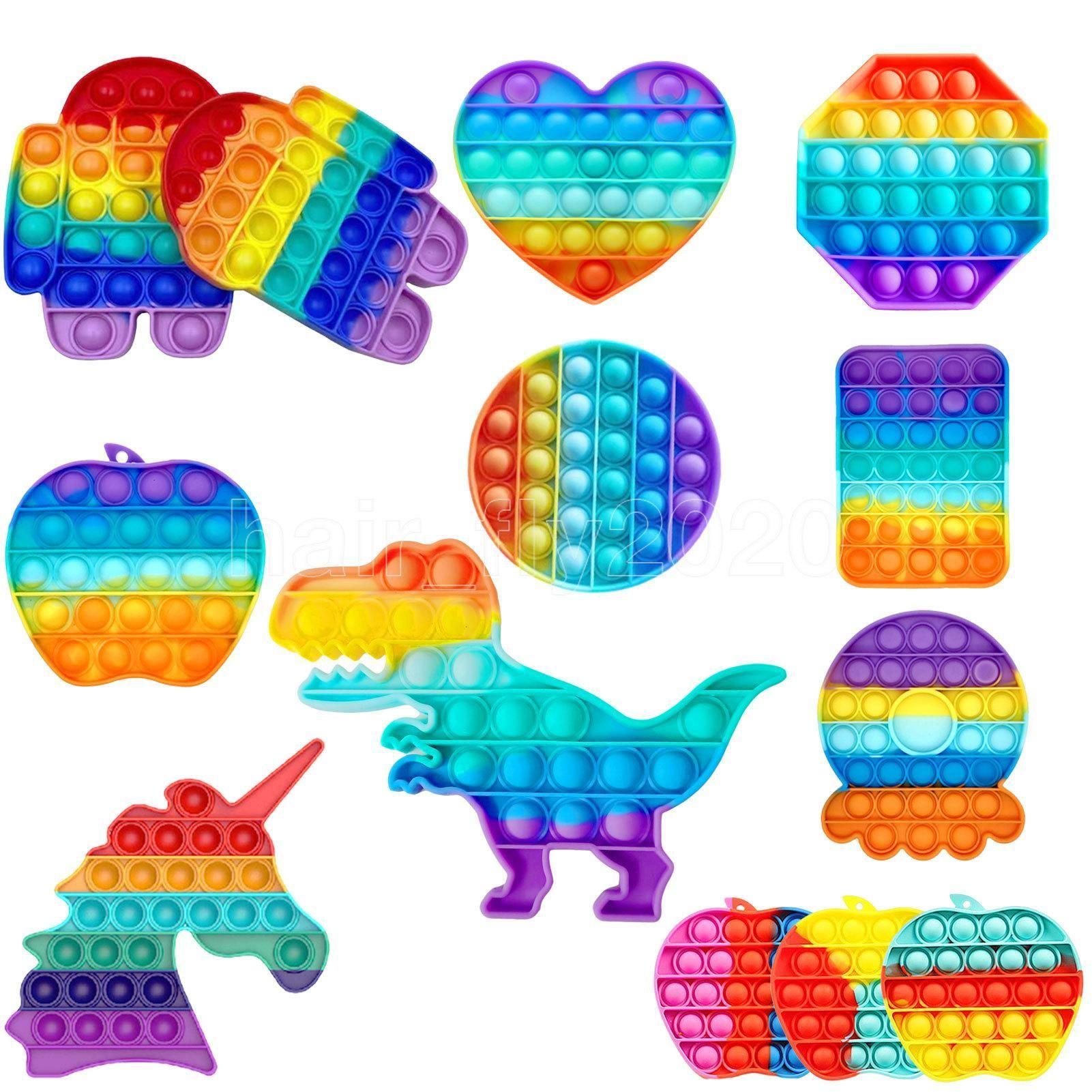 Reversible Flip Push Bubble Sensory Zappget Spielzeug Autismus Sonderbedürfnisse Stresseinlagerung, Sinnesspielzeug großartig für das alte und