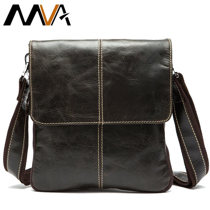 MVA Men's Shoulder Bag for Men Designer Bags Men's Genuine Leather Male Messenger Crossbody Bags Over The Shoulder Handbags 8006 C0224