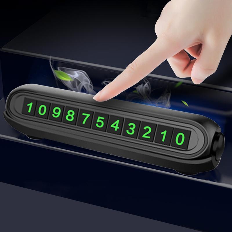 2021 nuova auto luminosa auto autoadesivo autoadesivo auto auto Deodorante Auto Numero di telefono Auto Placca Accessori
