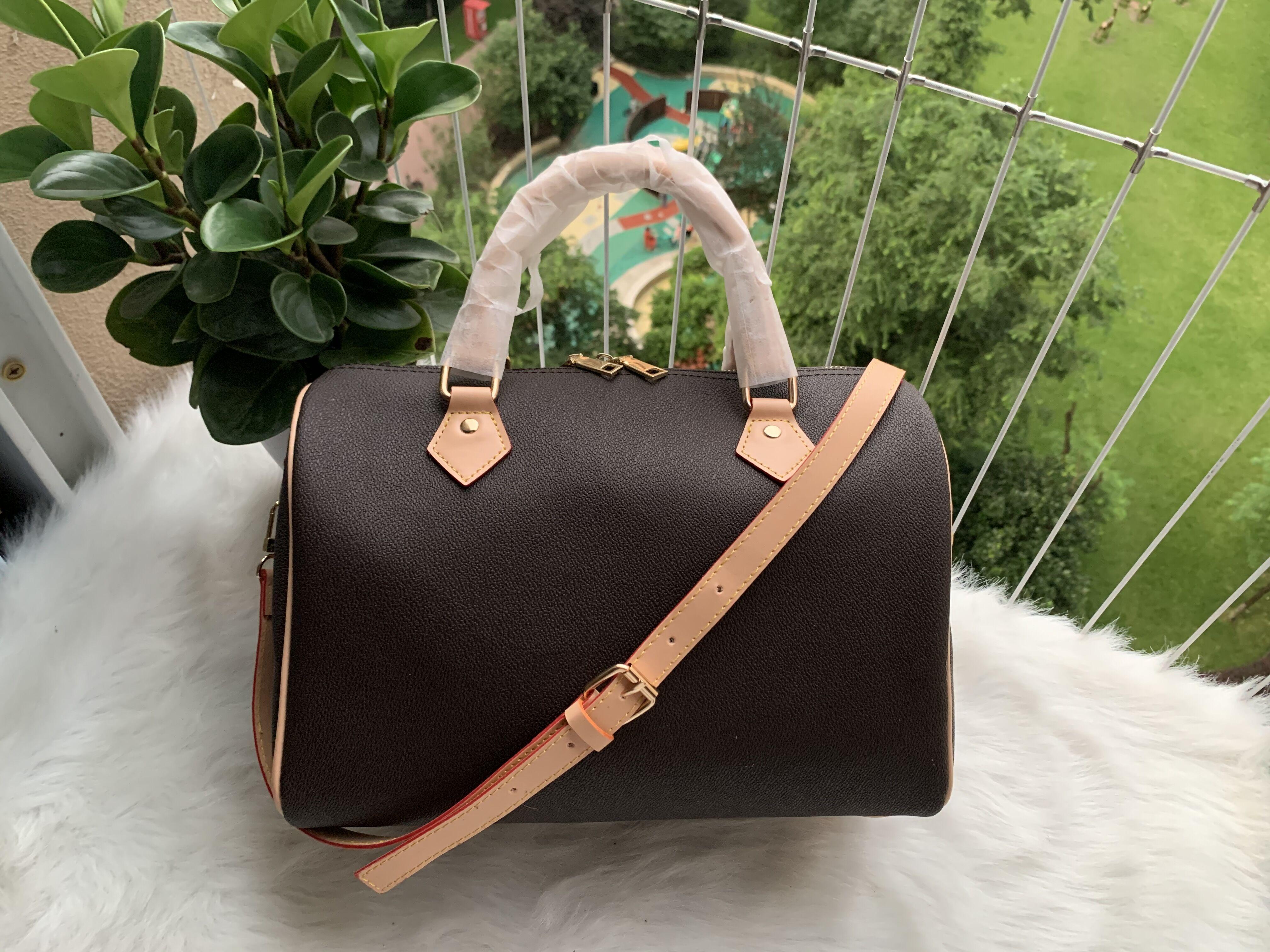 النساء رسول حقيبة سفر الكلاسيكية نمط الأزياء حقائب الكتف سيدة حقائب اليد حقائب 30 سنتيمتر مع مفتاح قفل 112xcd