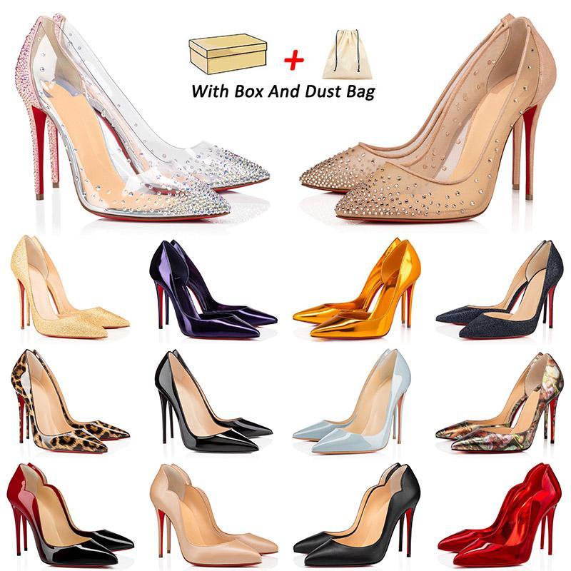 designer red bottoms high heels Con la scatola 2021 Piattaforma di arrivo Scarpe eleganti piatte Stiletto Moda donna 8 10 12CM Tacco di lusso Bottoms Mocassini in vera pelle