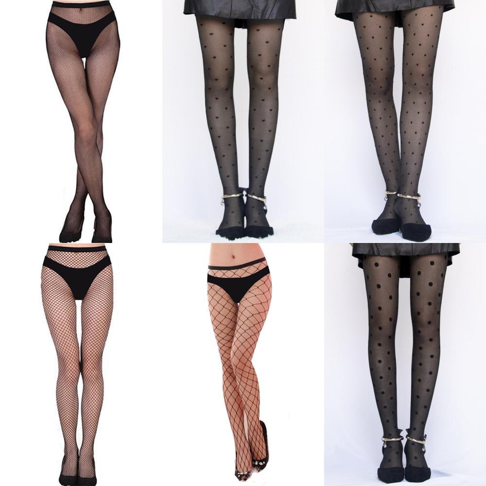 Medias femeninas Classic Pequeño Pequeño Dot Medias de Seda Dama delgada Vintage Faux Tatuaje Medias Sexy Pantyhose Femenina Hosiery X0521