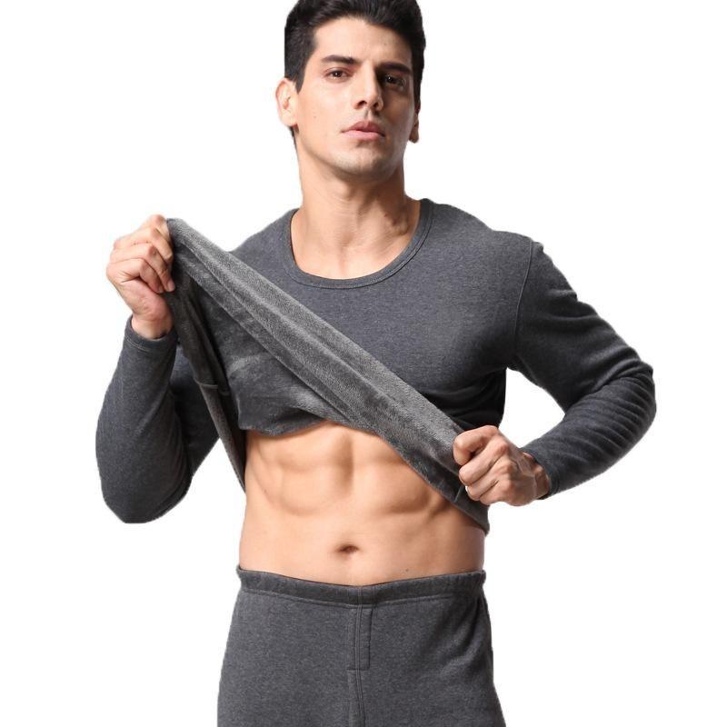 Мужские плюшевые и утолщенные термические белье костюм мужские трусы