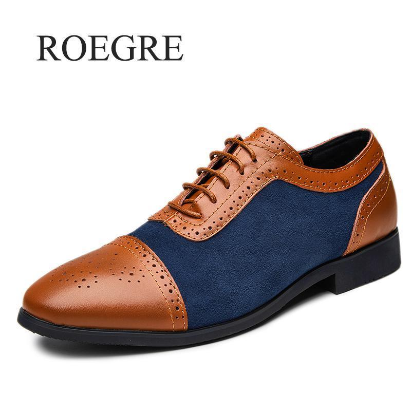 Robe Chaussures Sneakers Qualité Men's Quality Brevet En Cuir Plus Taille 47 48 Mixcolor Man Classic Oxford occasionnel