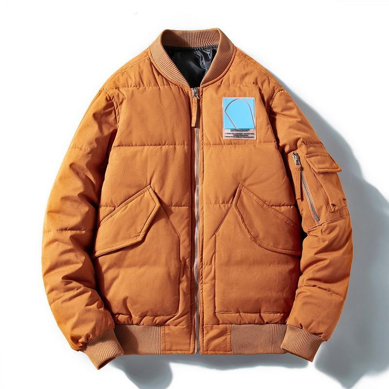 Мужские куртки 2021 зимняя куртка мужчины бомбардировщик мужской хлопок Parkas повседневная ветровка утолщение теплой верхней одежды мода женские тонкие пальто