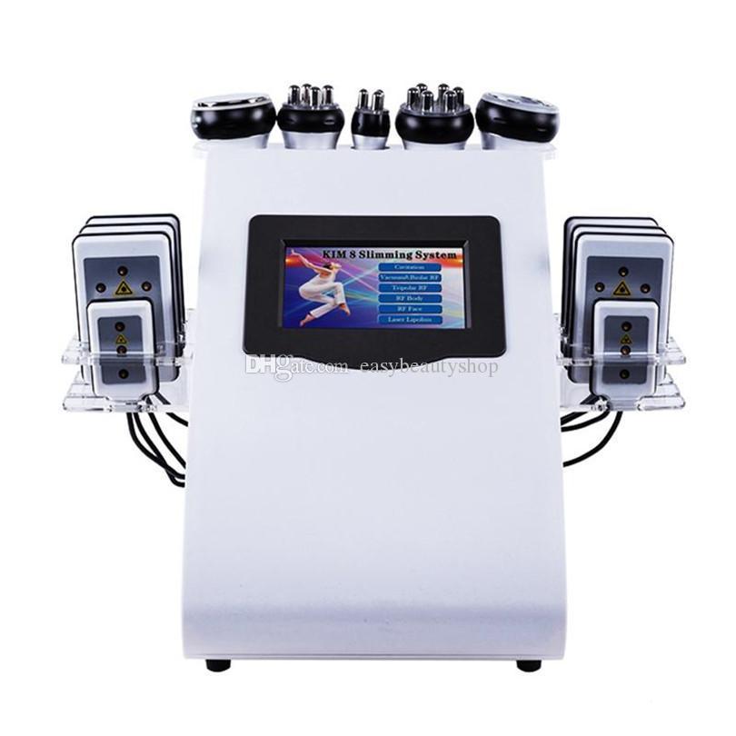 الجمال 6 في 1 التخسيس 40K الموجات فوق الصوتية التجويف فراغ راديو تردد الليزر 8 منصات ليبو آلة للاستخدام المنزلي