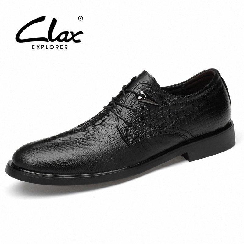 Clax Männer Formale Schuhe 2019 Frühling Herbst Mann Kleid Schuh Echtes Leder Männlichen Social Schuh Alligator Hochzeit Schuhe B7T9 #