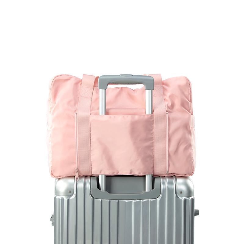 Duffel Bags Foldable Travel Bag Women Large Capacity Portable Shoulder Waterproof Weekend Luggage Tote Wholesale Duffle