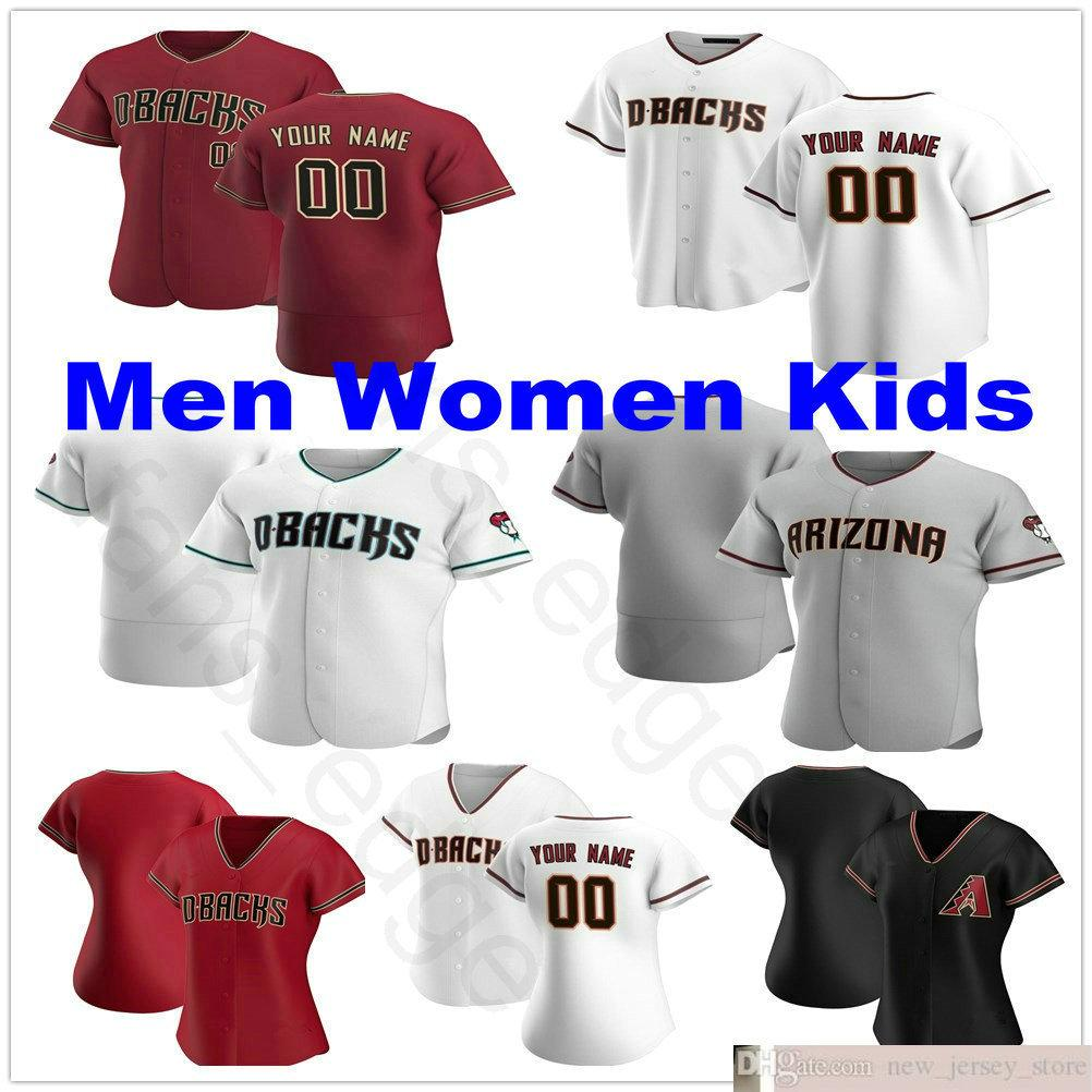 2020 Nuevos Hombres personalizados Mujeres Niños Jóvenes 4 Starling Marte 13 Nick Ahmed 40 Madison Bumgarner Jake Lamb Kole Calhoun Steins Baseball Jerseys