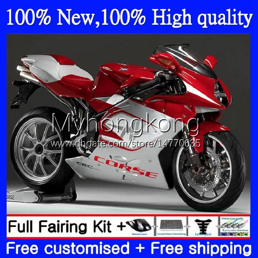 OEM Fairings For MV Agusta F4 R312 750S 1000 R 750 CC S 1000CC 05-06 Bodywork 6No.0 312R 750R 1000R Cowling 312 1078 S 1+1 05 06 MA MV F4 2005 2006 Bodys kit Glossy Silvery Red