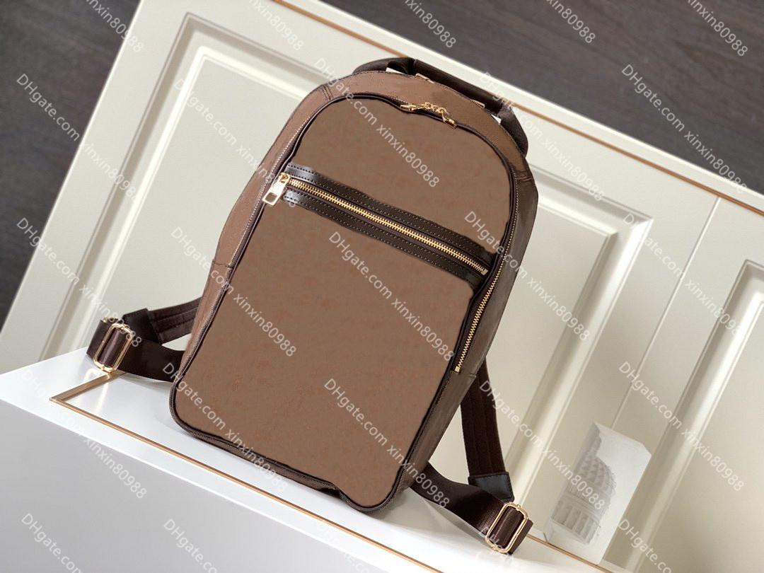 Top-Quality Michael Mochila Luxurys Designer Backpacks Marca Homens Mulheres Genuíno Couro Escola Satchel Back Back