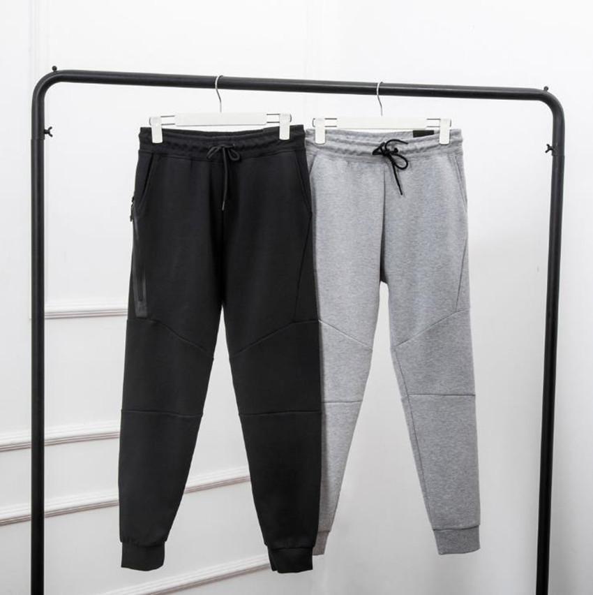 Siyah Gri Teknoloji Polar Spor Pantolon Uzay Pamuk Pantolon Erkekler Dipleri Erkek Joggers Teknoloji Polar Camo Koşu Pantolon 3 Renkler Asya Boyutu M-XXL