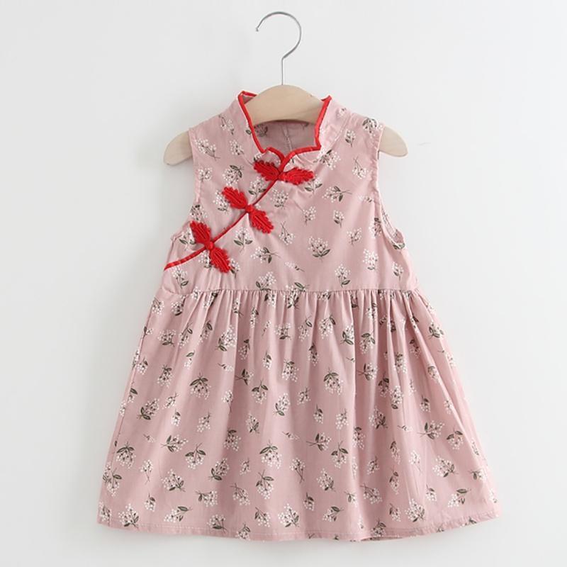 Vestidos de niña ropa de bebé vestido de niñas vestido para niños niños niños floral estilo chino cheongsam Qipao