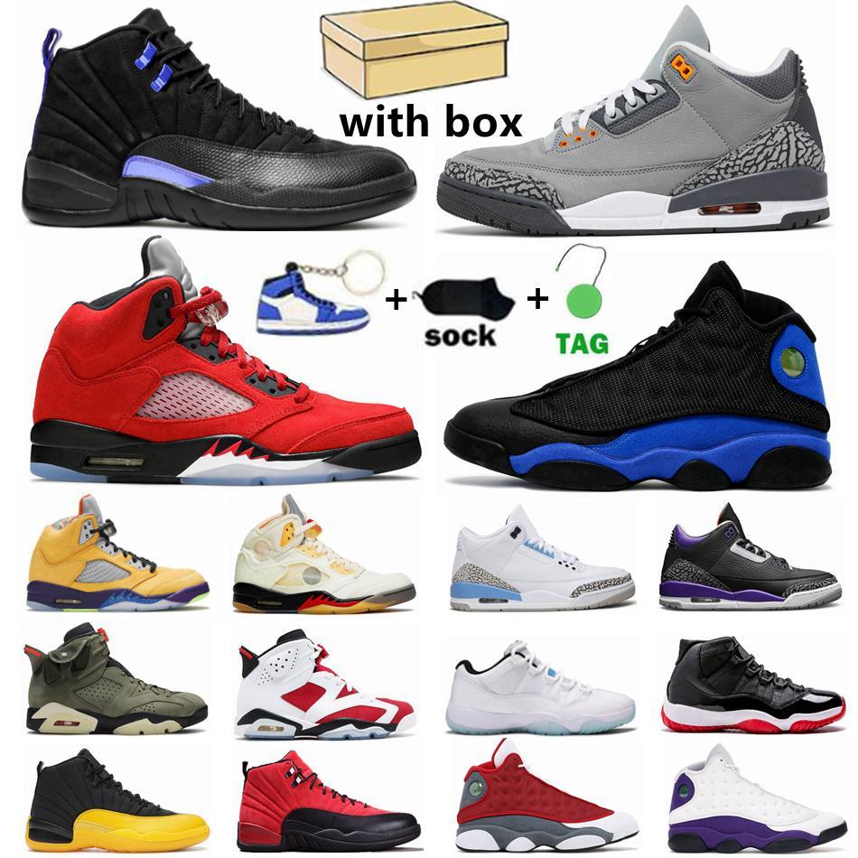 Jumpman Erkekler Basketbol Ayakkabıları Serin Gri 3s Hangi 5s Carmine 6 S Jubilee 25th Yıldönümü 11s Koyu Concord 12 S Hyper Kraliyet 13s Spor Kadın Sneakers