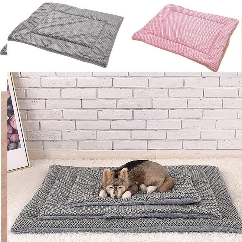 Coussin Peluche Coussin Maison Doux Dog Tache Chaud Couverture de chien Solide Couverture de la molleton Solide Lit de chaise longue Pour Petite Moyen Grand Chiens Produits pour animaux de compagnie 2021