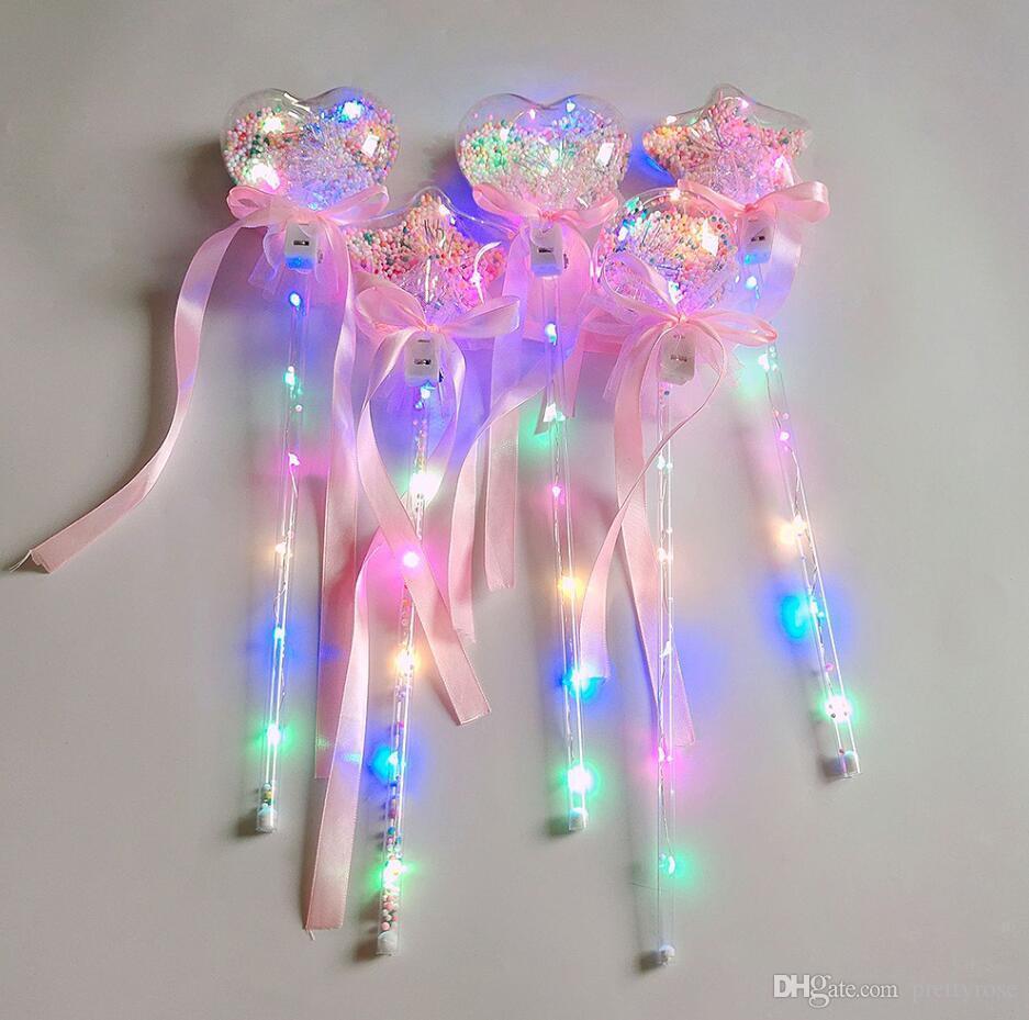 Nouvelle lumière-up boule magique ballon glow stick witch wizard a conduit baguette magique rave jouet idéal pour les anniversaires princesse costume Halloween enfants jouet