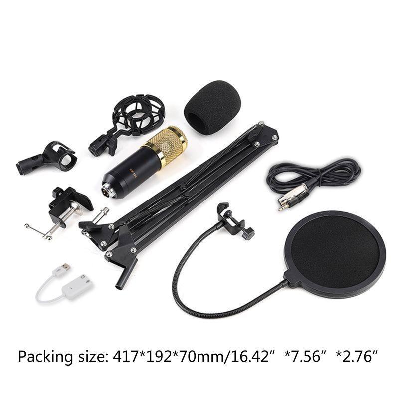 Microphones Condenseur Microphone Bundle BM-800 MIC SET POUR LE KIT D'ENREGISTREMENT DE STU DIO 77HA