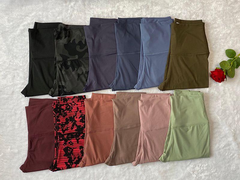 Pantaloni da donna a colori solidi Pantaloni a vita alta Gym Sports Gym Indossare Leggings Elastico Fitness Lady Complessivamente collant