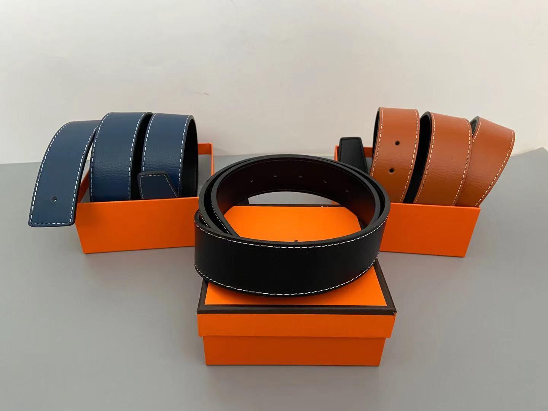 Cinture in vera pelle di alta qualità per la fibbia della fashion della cintura delle donne con le scatole della cintola della scatola