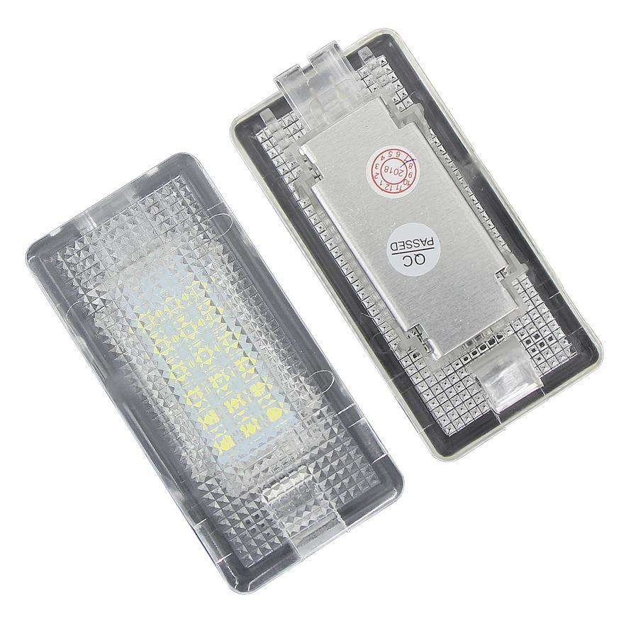2 unids LED LED Tronco de equipaje Tronco Interior Luz de guantera Lámpara No error para BMW X5 E46 E39 E84 E90 E91 E92 E53 F10 F01 F02