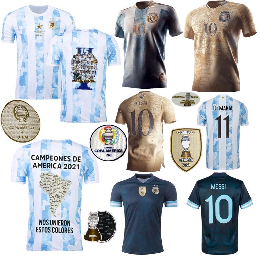 2021 Argentina Soccer Jersey Maradona Elements Messi Concept Kun Agüero di Maria Lo Celso Martinez Correa Independência 200 Anos Casa de Futebol