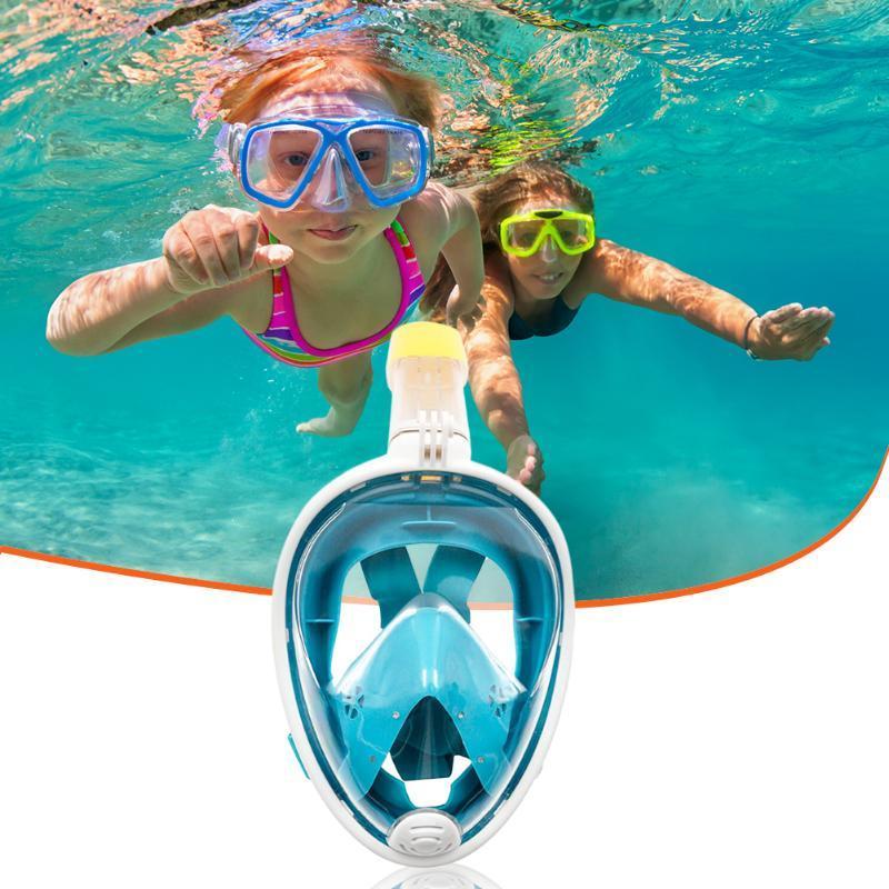 Respiratory Cover Safe Swimming Equipment Children Underwater Swimming Full Face Cover Scuba Diving Mask Anti Fog Goggles