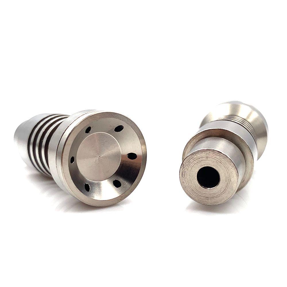 Preço barato Universal Domeless Macho Titanium Prego 4 em 1 14mm 18mm 19mm Dual Função GR2 para Óleo de cera Tubulação de água Vaporizador Dab Rigs