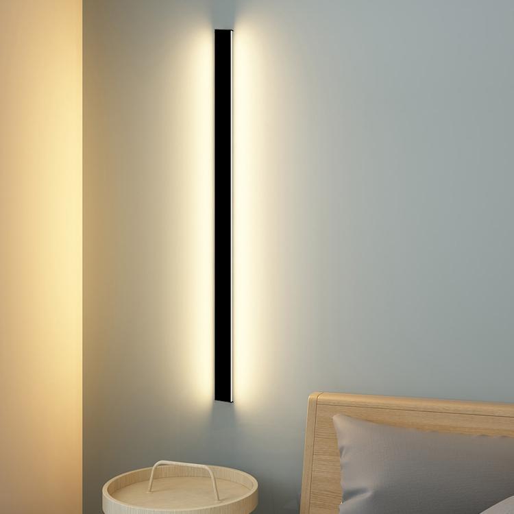 Современные светодиодные светильники настенные светильники простые северные минималистские длинные полосы спальня спальня прицел настенный лестничный лестничный лестничный лестничный лестник