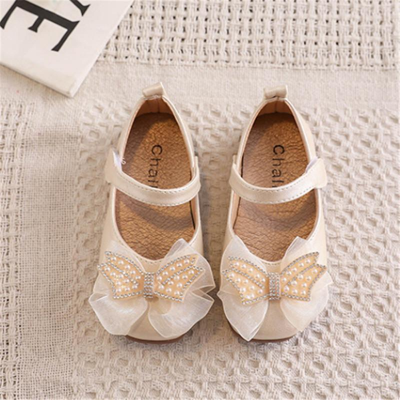 Baby Girls Schuhe Prinzessin 2021 Bogen Kinder Tanzschuhe für Mädchen Little Weiche PU-Leder Mode Kleinkind Kinder Größe 15-30