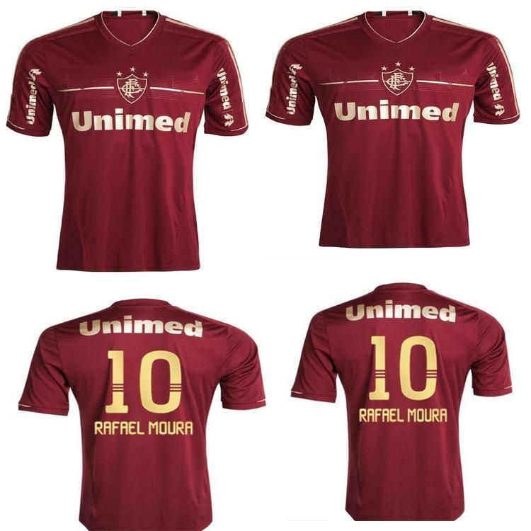 2012 2012 Jersey de futebol retrô 11 12 deco Lanzini Rafael Sobis Thiago Neves Fred Vintage Classic Maroon Homens Camisa de Futebol