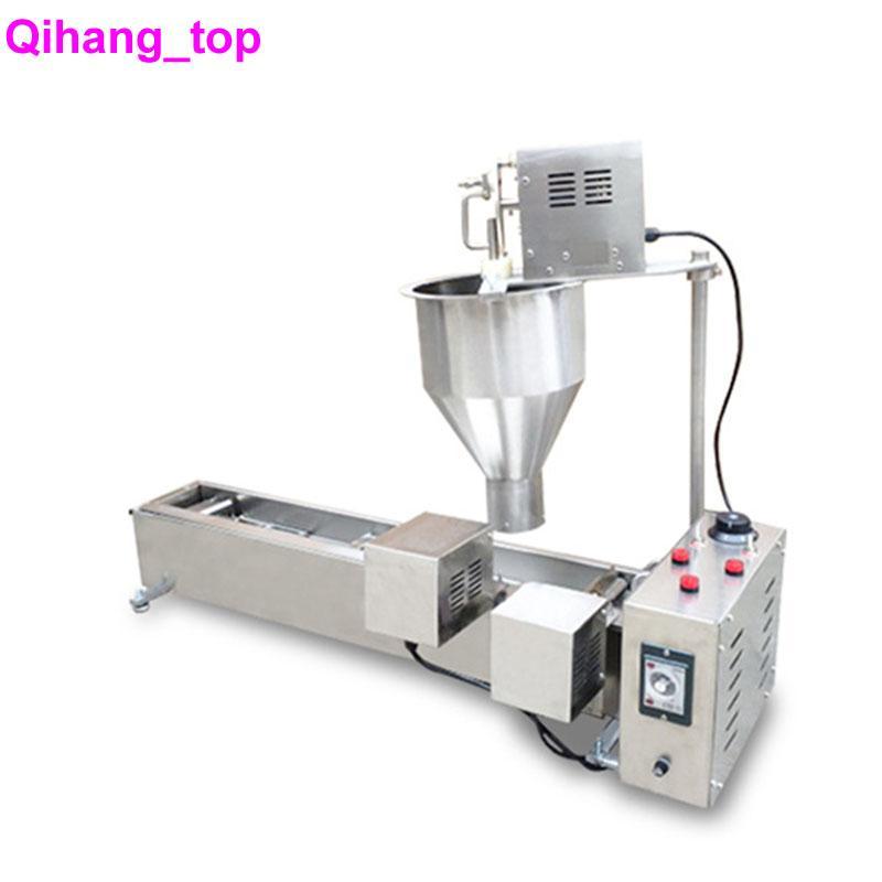 QIHANG_TOP آلة الكعك التلقائي آلة كهربائية دونات صانع المقلاة الفولاذ المقاوم للصدأ التجارية دونات آلة صنع آلة للبيع