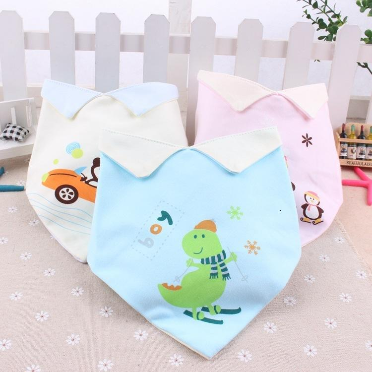 Produkte Anti-Saliva-V-Ausschnitt Baby-Dreieck-Tuch Baumwoll-Revers-Kinder-Lätzchen