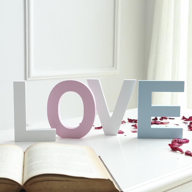 15 cm / 10 cm Freestanding Ahşap Kelime Renk Mektubu El Sanatları Düğün Ev Dekorasyon DIY Özel Dekorasyon Adı Tasarım