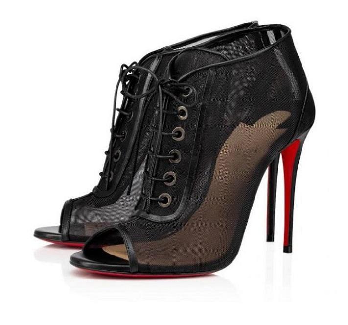 Bottes de créateurs d'été parfaits élégants fond rouge Femme Open Ondessa Boot Boot En Cuir High Talons High Talons Open Toe Robe Patrimy Butin