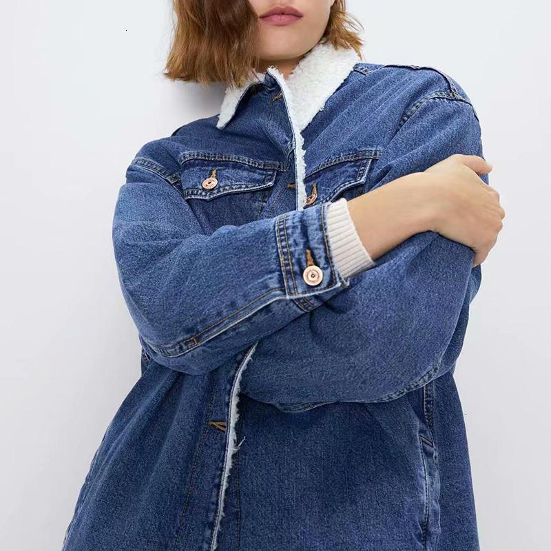 2021 Новые Зимние Женщины Ковбой Ультра Куртки Большой Плюс Плюс Ветка Куртка Карманный Карманный Карманный Короткая Сломанная Одежда Хлопок Пальто An9o