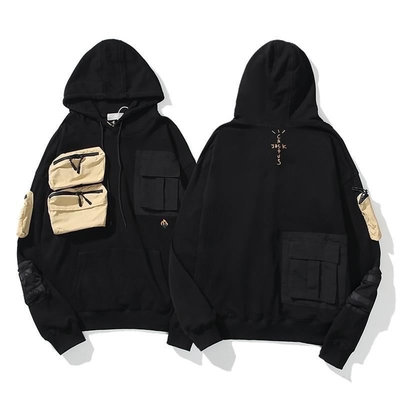 Melhor versão 1: 1 Travis Scott Cactus Jack Bolsos Que Costura Hoodies Mulheres Homens Com Capuz Moletons Hiphop Hoodies Homens Pulôver 20128