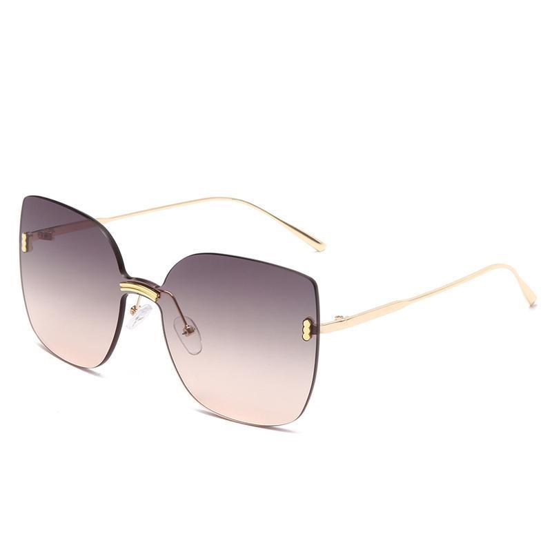 Солнцезащитные очки Cateye Metal Сексуальные красочные Унисекс Мужчины Женщины Дизайнер Мода Солнцезащитные Глазаны Ретро Мужской Женщина для