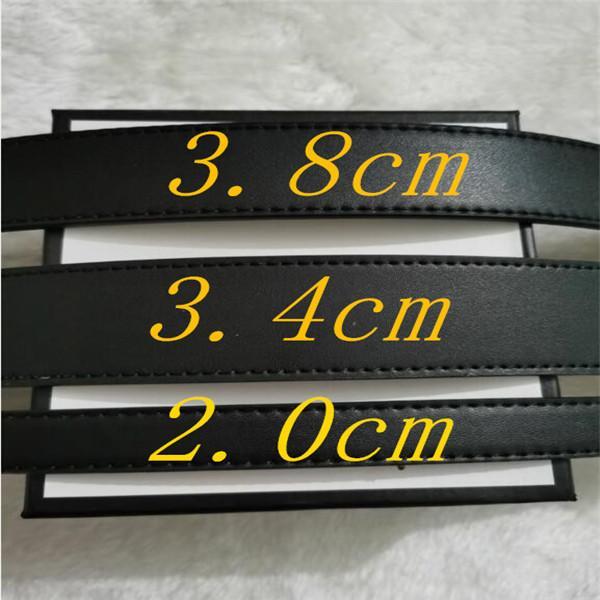 2021 Fashion Big buckle genuine leather belt designer belts men women high quality new mens belts AAA2 3.8-3.4-2.0cm G