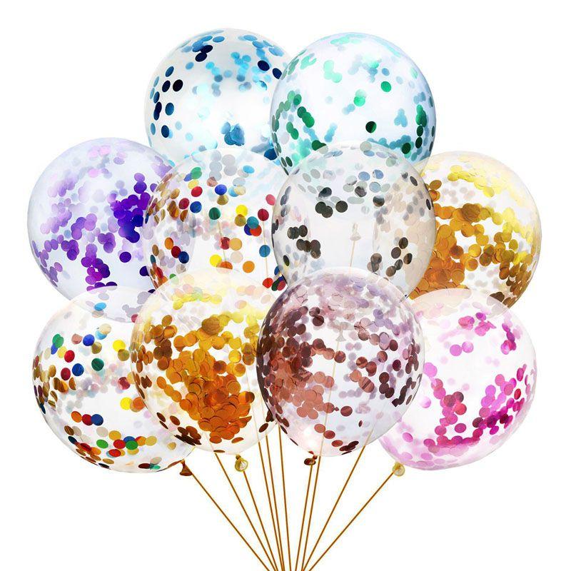100 pz / lotto 12 pollici Scintillio Confetti Lattice Balloons Wedding Decorazioni natalizie Baby Shower Doccia di compleanno Party Decor Air Balloons Globos