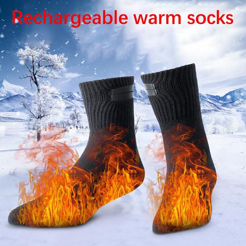 Спортивные носки электрические нагретые с аккумуляторной батареей теплые USB зарядки нагревательной температуры лития