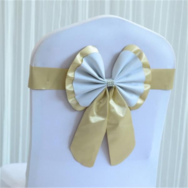 WJH348 Chair Sashes Spandex Wedding seat Cover Bands Birthday Party Elastic Buckle Decoration