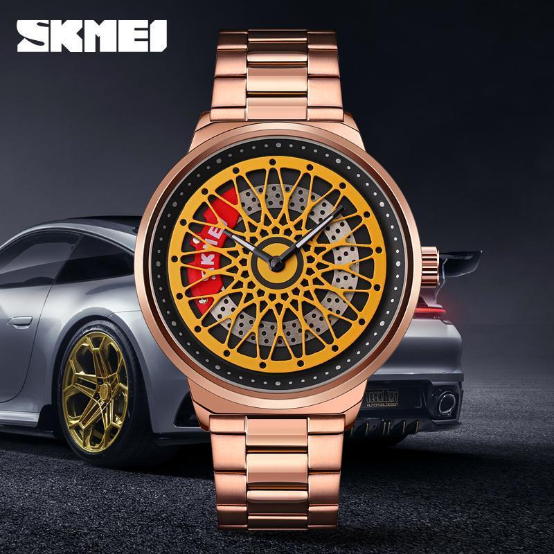 Armbanduhren Mode Quartzuhrzeit Wasserdichte Herrenuhren Business Casual Armband Top Marke SKMEI Herren Uhr Einfaches Design