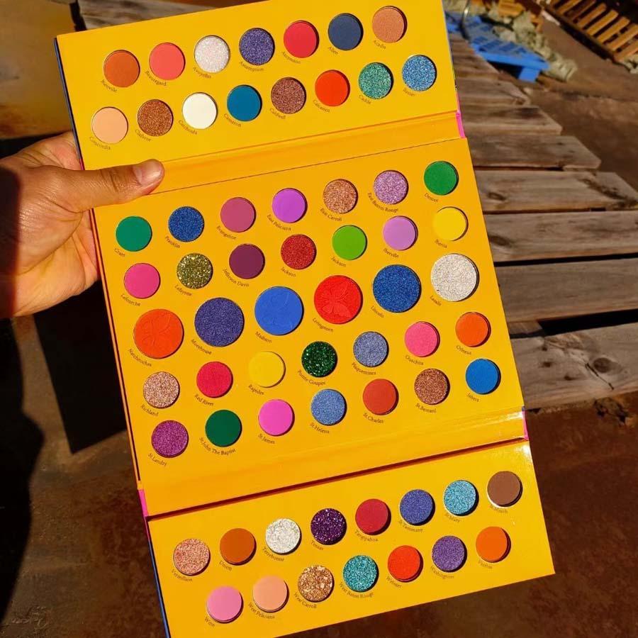 큰 상자 64 색 눈 그림자 메이크업 메이크업 매트 쉬머 밝은 색 크레용 ishadow 팔레트 방수 장기 지속 DHL 무료