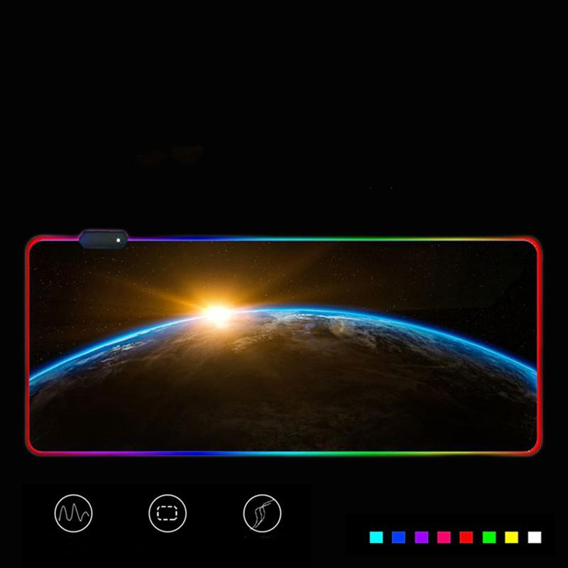 2021 New Hot Color rgb mouse pad led luminous mouse pad gaming oversized mouse pad free shipping