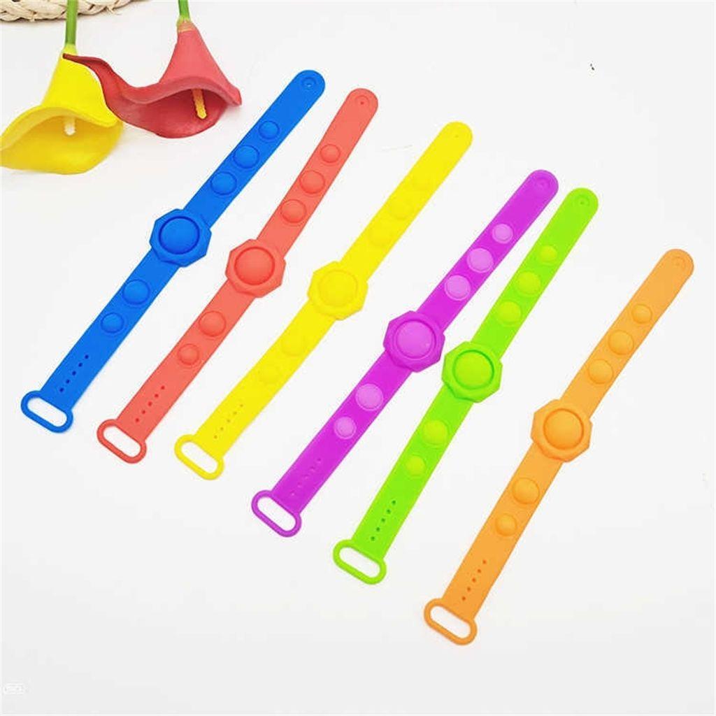 Silicona Tie Dye Pioneer Pulsera Pulsera Pop Pop Pop Fidget Toys Rainbow Camuflaje Color Cambiando Poppers Burbujas Descompresión Pulsera Regalos para Niños G956J0K