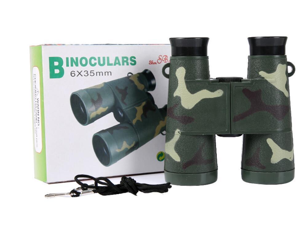 6 * 35 çocuk kamuflaj siyah dürbün oyuncak plastik dürbün açık hediyesi katlanabilir