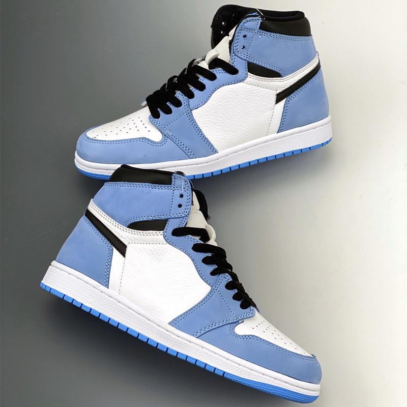 High OG 1 UNC Black White Blue University Blue Jumpman Basketball Shoes Mens Sports Sneakers Runner Sneakers