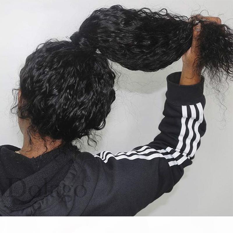 Curly 360 Rendas Peruca frontal com cabelo de bebê onda profunda transparente transparente Lace Human Human Wigs 370 Fake Scalp Calveiro Peruca dianteira
