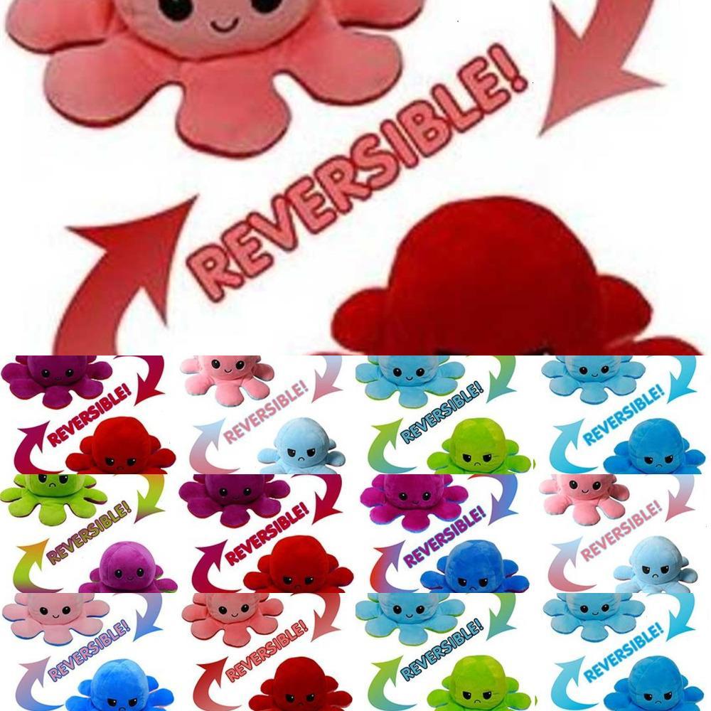 FactoryA8VMsoft Fast Livraison rapide Simulation de simulation pieuvre en peluche DHL Couleur réversible Chapitre Poupée peluche Enfant jouets